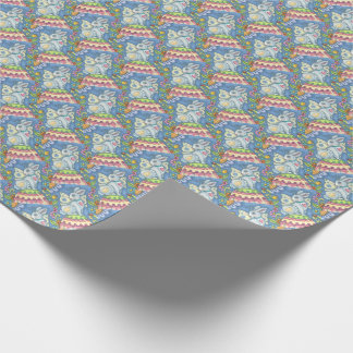 EASTER EGG FAIRY, RABBIT WRAPPING PAPER Holiday