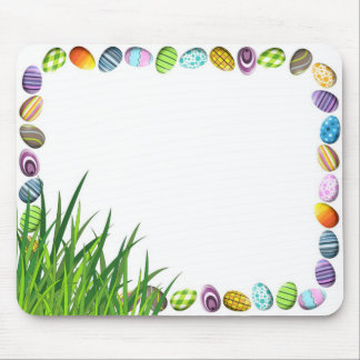 Easter Egg Frame Mouse Pad with Grass