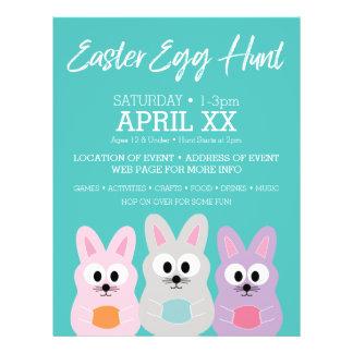 Easter Egg Hunt Advertisement - Cute Bunny Rabbits 21.5 Cm X 28 Cm Flyer
