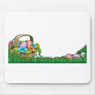 Easter Egg Hunt Background Mouse Pad