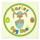 Easter Egg Hunt Bunny in Egg Colourful Invitations