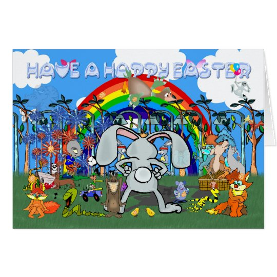 Easter Egg Hunt Card, Interactive fun Card