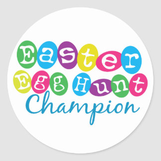Easter Egg Hunt Champion Round Sticker