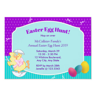 Easter Egg Hunt 5x7 Paper Invitation Card