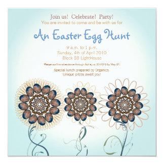 "Easter Egg Hunt 5.25"" Square Invitation Card"