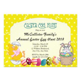 Easter Egg Hunt Polka Dot Fun Invitations