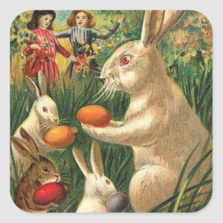 Easter Egg Hunt Square Sticker