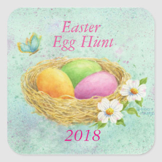 Easter Egg Hunt Stickers 2018