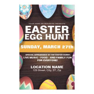 Easter Egg Hunt with Easter Eggs 14 Cm X 21.5 Cm Flyer