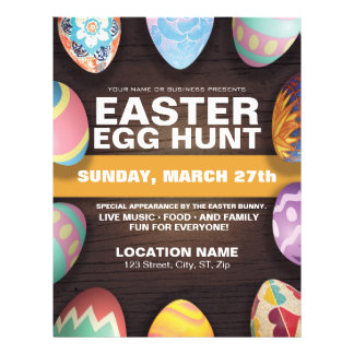 Easter Egg Hunt with Easter Eggs 21.5 Cm X 28 Cm Flyer