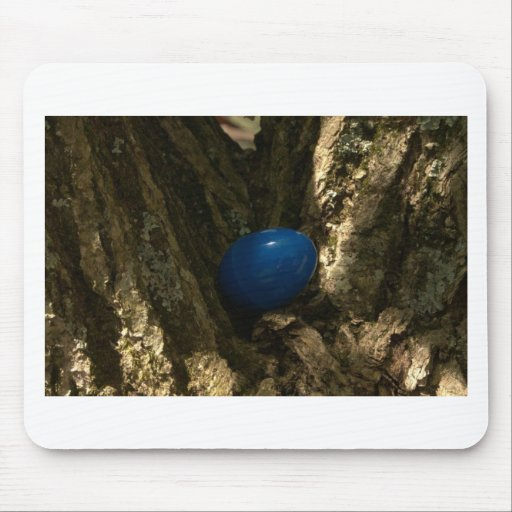 easter egg in a tree for easter egg hunt mouse pads