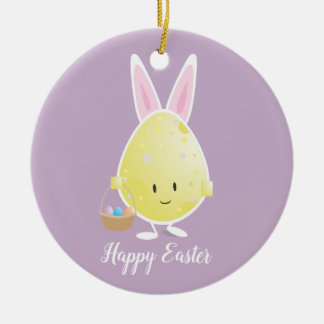Easter Egg in Bunny Outfit | Ornament