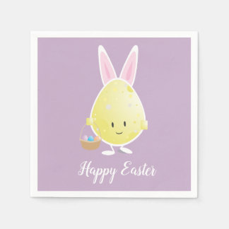 Easter Egg in Bunny Outfit | Paper Napkins Paper Napkin