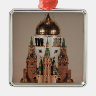 Easter egg in the form of the Uspensky Silver-Colored Square Decoration