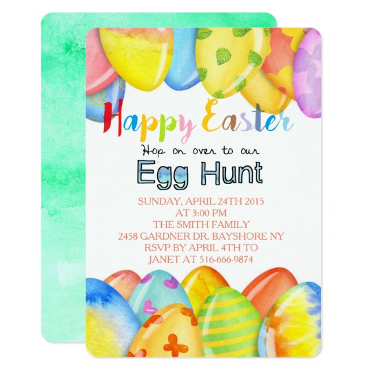 Easter Egg Pastel Card