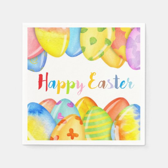 Easter Egg Pastel Napkins Disposable Serviette