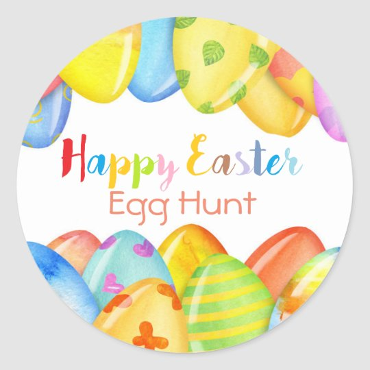 Easter Egg Pastel Round Sticker