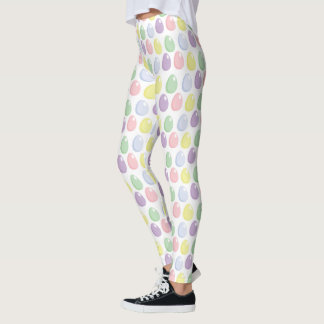 Easter egg patter Holiday womens leggings