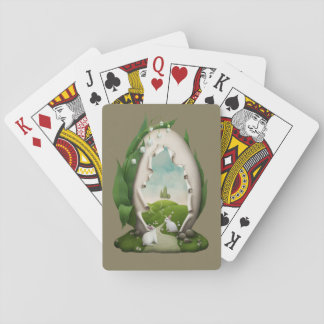 Easter Egg Rabbits Playing Cards