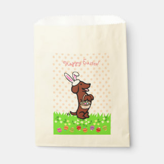 Easter Egg Red Smooth Haired Dachshund Favor Bags Favour Bags