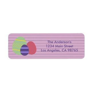 Easter Egg Return Address Label