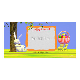 Easter Egg Robbers Personalised Photo Card