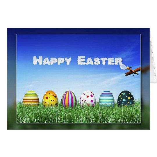 Easter Egg Skywriting Greeting Card