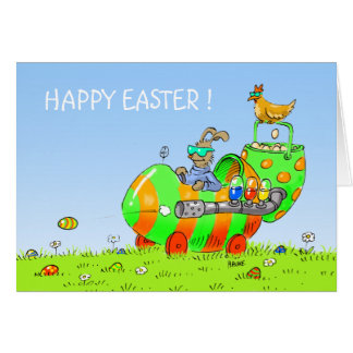 easter egg tank greeting cards