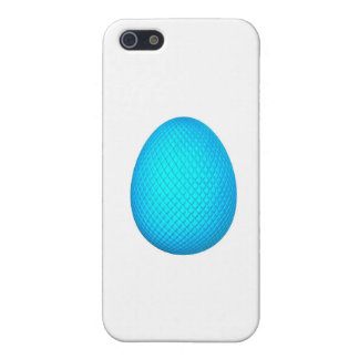 Easter Egg with Blue Metallic Finish iPhone 5/5S Covers