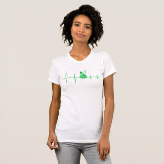 Easter Egg with Bunny Floppy Ear Heartbeat T-Shirt