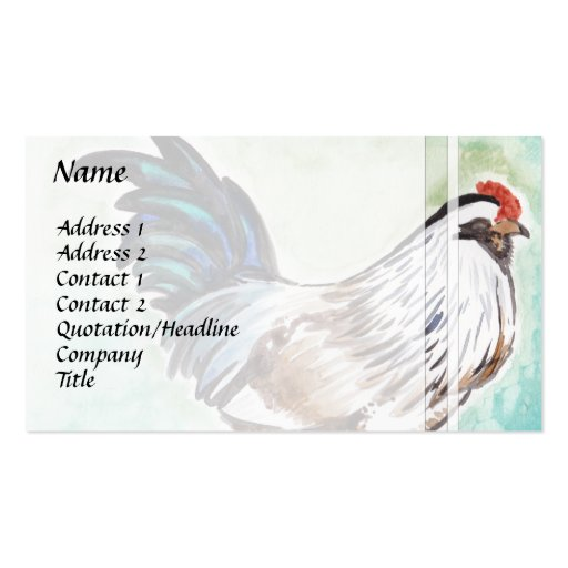 Easter Egger Rooster Business Card