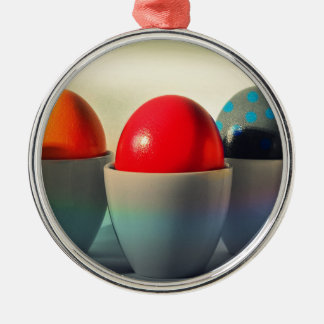Easter Eggs1 Silver-Colored Round Decoration