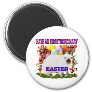 Easter eggs 6 cm round magnet