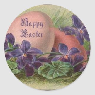 Easter Eggs Among the Violets - Sticker