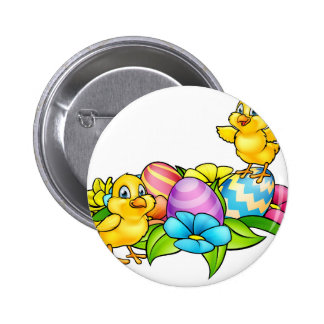 Easter Eggs and Chicks 6 Cm Round Badge