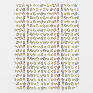 Easter Eggs and Chicks Baby Blanket