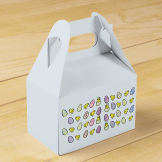 Easter Eggs and Chicks Folded Favour Box
