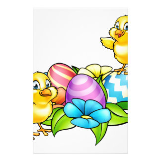 Easter Eggs and Chicks Stationery Design