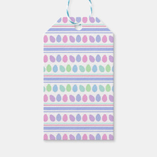 Easter Eggs and Stripes Gift Tags