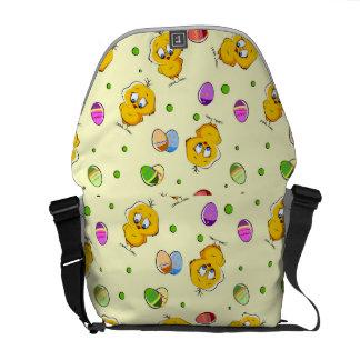 Easter Eggs & Baby Chicks Messenger Bags