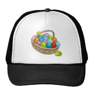 Easter eggs basket illustration trucker hat
