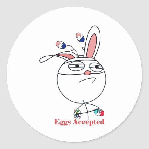 Easter Eggs (Challenge) Accepted Round Stickers