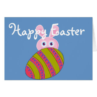 Easter Eggs Easter Bunny Card