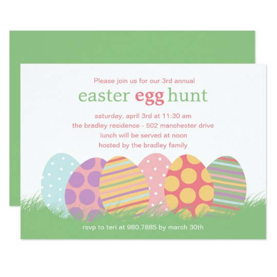 Easter Eggs Easter Party Invitation