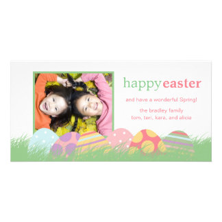 Easter Eggs Easter Photo Greeting Cards Customized Photo Card