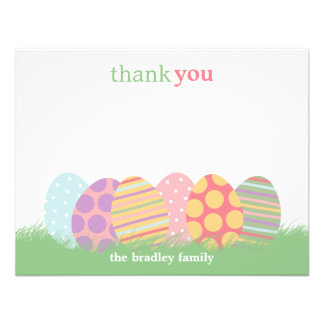 Easter Eggs Flat Thank You Card or Note Card Invitation