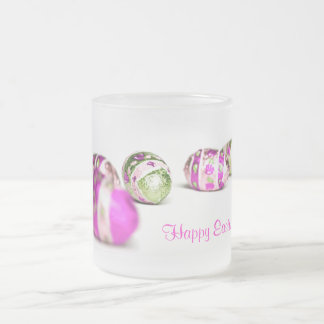 Easter Eggs Frosted Glass Coffee Mug