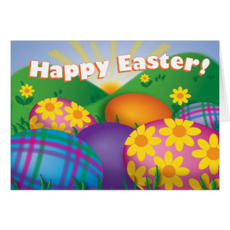 Easter Eggs - Greeting Card
