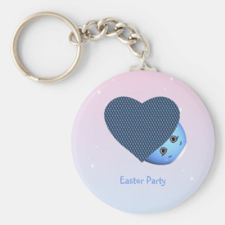 Easter Eggs Hearts Key Ring