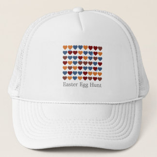 Easter Eggs Hearts Trucker Hat